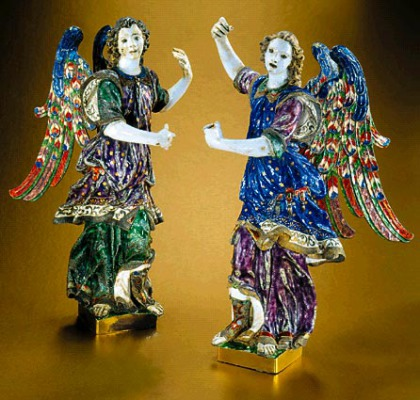 Enameled & Guilded Silver Archangels