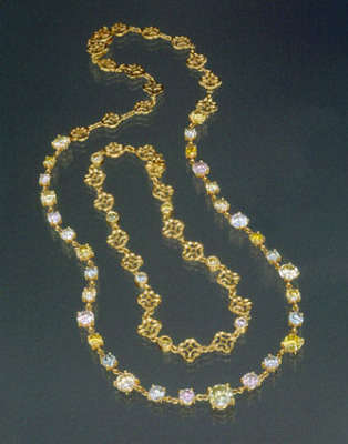 Celtic Colours Pastel Diamond Necklace