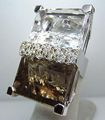 Large Rock Crystal Diamond Bling