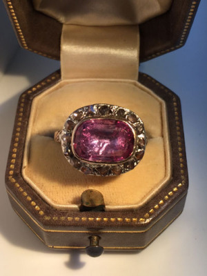 Georgian Pink Topaz Ring