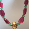 Rubellite Tourmaline, emerald and gold!!!